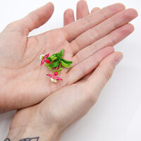 Dress My Craft - Miniature Flower Embellishments - Orchid Bunch - Pink and White
