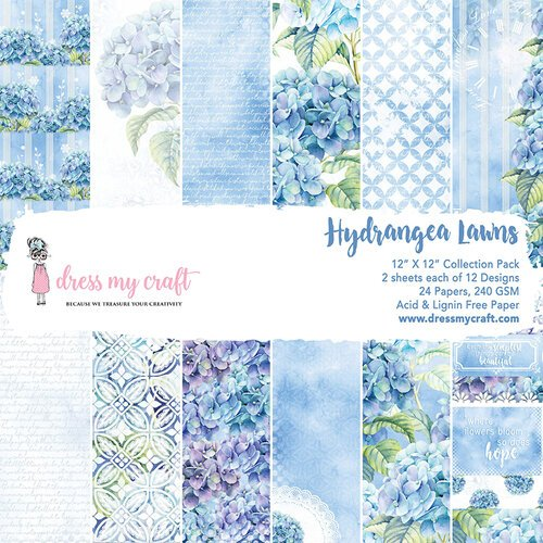 Dress My Craft 12 X 12 Paper Pad Hydrangea Lawns