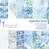 Dress My Craft - 12 x 12 Paper Pad - Hydrangea Lawns