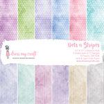 Dress My Craft - 12 x 12 Paper Pad - Dots n Stripes