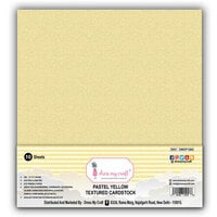 Dress My Craft - 12 x 12 Textured Cardstock - Pastel Yellow - 10 Pack