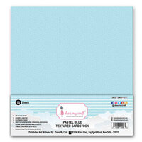 Dress My Craft - 12 x 12 Textured Cardstock - Pastel Blue - 10 Pack