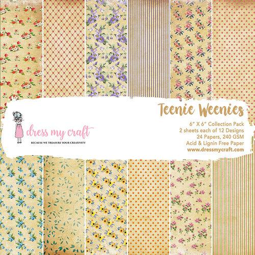 Dress My Craft - 6 x 6 Paper Pad - Teenie Weenies