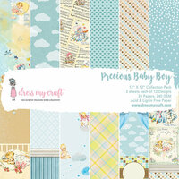 Dress My Craft - 12 x 12 Paper Pad - Precious Baby Boy