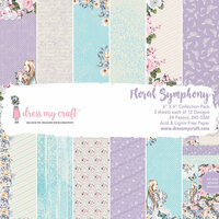 Dress My Craft - 6 x 6 Paper Pad - Floral Symphony