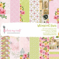 Dress My Craft - 12 x 12 Paper Pad - Whimsical Hues