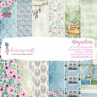 Dress My Craft - 12 x 12 Paper Pad - Magnolias