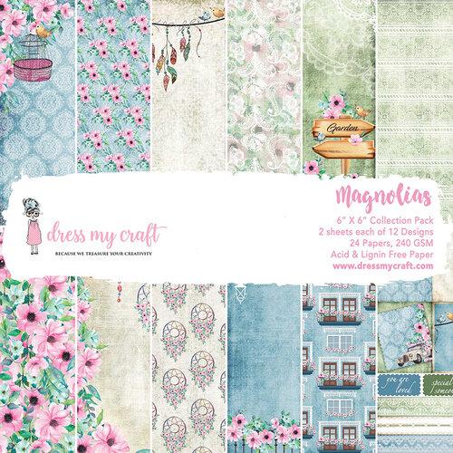 Dress My Craft - 6 x 6 Paper Pad - Magnolias