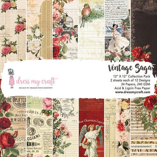 Dress My Craft - 12 x 12 Paper Pad - Vintage Saga