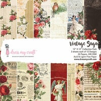 Dress My Craft - 12 x 12 Paper Pad - Vintage Saga