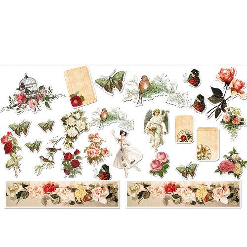 Dress My Craft - Die Cut Cardstock Pieces - Vintage Sage