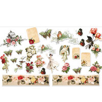 Dress My Craft - Die Cut Cardstock Pieces - Vintage Sage