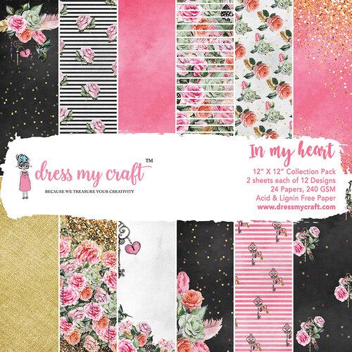 Dress My Craft - 12 x 12 Paper Pad - In My Heart