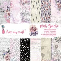 Dress My Craft - Pink Smoke Collection - 6 x 6 Paper Pad