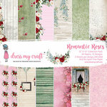 Dress My Craft - Romantic Roses Collection - 12 x 12 Paper Pad