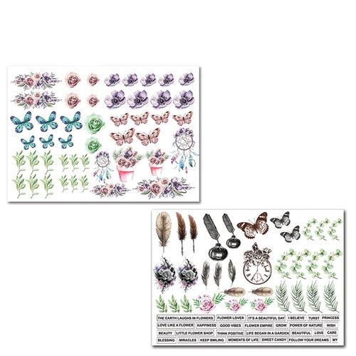 Dress My Craft - Pink Smoke Collection - Motif Sheet