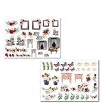 Dress My Craft - Romantic Roses Collection - Motif Sheet
