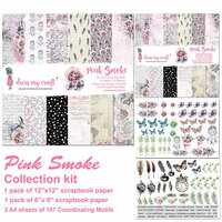 Dress My Craft - Pink Smoke Collection - 12 x 12 Collection Kit