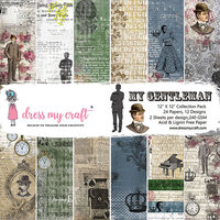 Dress My Craft - My Gentleman Collection - 12 x 12 Paper Pad