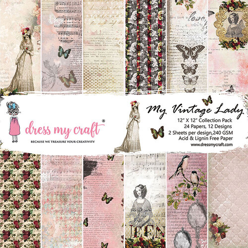 Dress My Craft - My Vintage Lady Collection - 12 x 12 Paper Pad