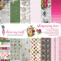 Dress My Craft - Whispering Love Collection - 12 x 12 Paper Pad