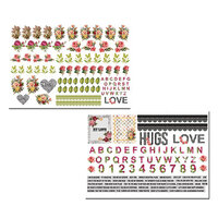 Dress My Craft - Whispering Love Collection - Motif Sheet