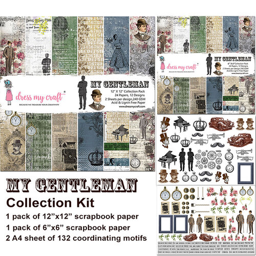 Dress My Craft - My Gentleman Collection - 12 x 12 Collection Kit