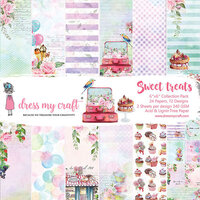 Dress My Craft - Sweet Treats Collection - 6 x 6 Paper Pad