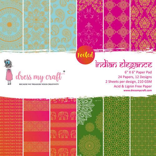 Dress My Craft - 6 x 6 Paper Pad - Indian Elegance