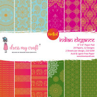 Dress My Craft - 6 x 6 Paper Pad - Indian Elegance