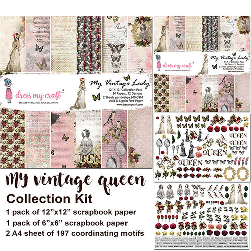 Dress My Craft - My Vintage Lady Collection - Collection Kit