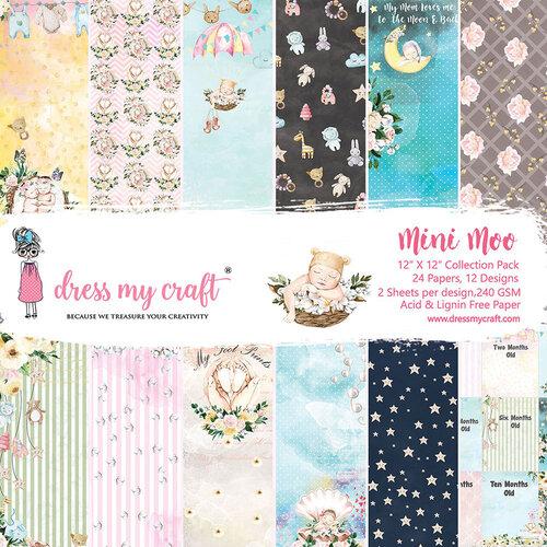 Dress My Craft - Mini Moo Collection - 12 x 12 Paper Pad