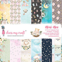 Dress My Craft - Mini Moo Collection - 12 x 12 Paper Pad
