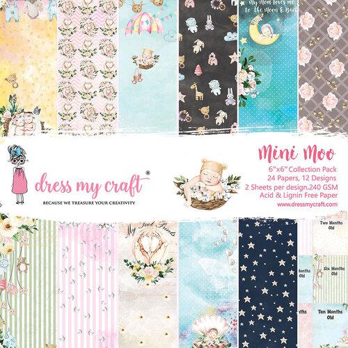 Dress My Craft - Mini Moo Collection - 6 x 6 Paper Pad