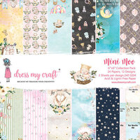 Dress My Craft - Mini Moo Collection - 6 x 6 Paper Pad