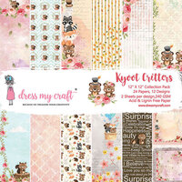 Dress My Craft - 12 x 12 Paper Pad - Kyoot Critters