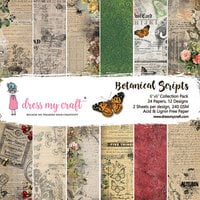 Dress My Craft - Botanic Scripts Collection - 6 x 6 Paper pad