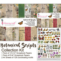 Dress My Craft - Botanic Scripts Collection - 12 x 12 Collection Kit