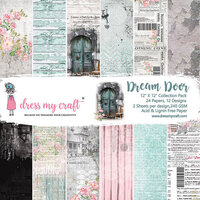 Dress My Craft - 12 x 12 Paper Pad - Dream Door