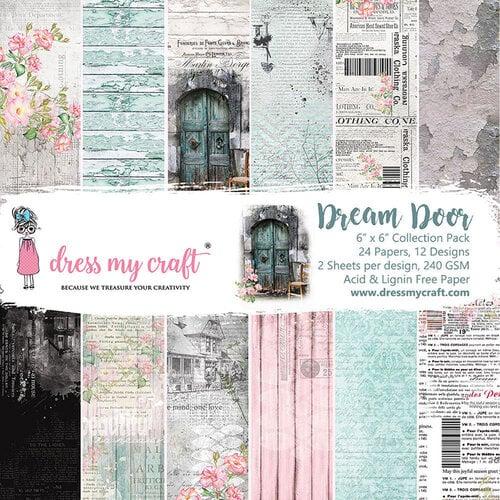 Dress My Craft - 6 x 6 Paper Pad - Dream Door