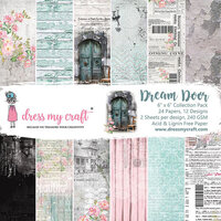 Dress My Craft - 6 x 6 Paper Pad - Dream Door