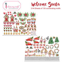 Dress My Craft - Welcome Santa Collection - Motif Sheets
