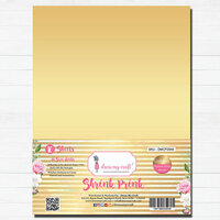 Dress My Craft - A4 - Shrink Prink - Golden Frosted Glass Sheets - 10 Pack