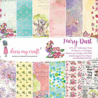 Dress My Craft - 12 x 12 Paper Pad - Fairy Dust