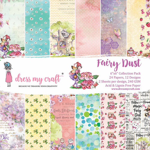 Dress My Craft - 6 x 6 Paper Pad - Fairy Dust