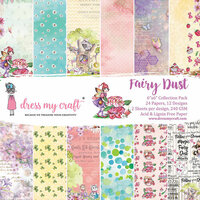 Dress My Craft - 6 x 6 Paper Pad - Fairy Dust