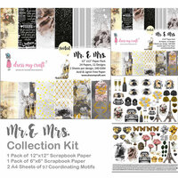 Dress My Craft - 12 x 12 Collection Kit - Mr. and Mrs.