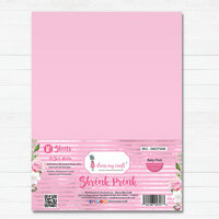 Dress My Craft - A4 - Shrink Prink - Baby Pink Frosted Glass Sheets - 10 Pack