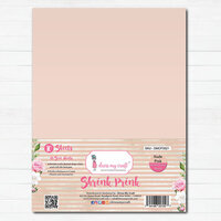Dress My Craft - A4 - Shrink Prink - Nude Pink Frosted Glass Sheets - 10 Pack