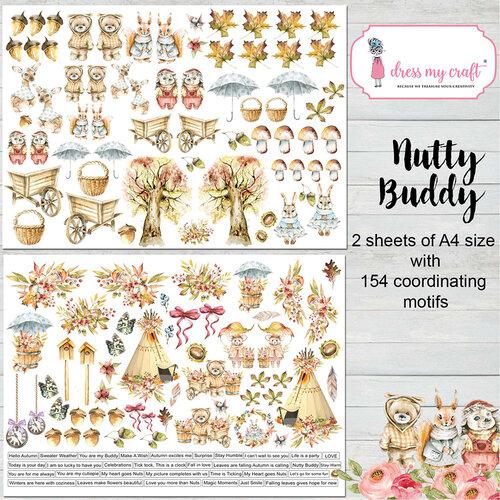 Dress My Craft - Nutty Buddy Collection - Motif Sheet